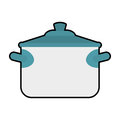 Saucepan icon. Kitchen and cooking design. Vector graphic Royalty Free Stock Photo
