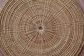 Saucer form bamboo by handmade Royalty Free Stock Image