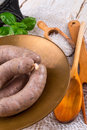 Saucisse faite maison Photos stock