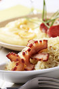 Sauerkraut and bacon Royalty Free Stock Images