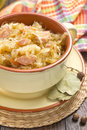 Sauerkraut with sausages german cuisine Stock Photo