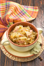 Sauerkraut with sausages german cuisine Stock Photos