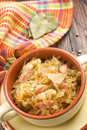 Sauerkraut with sausages german cuisine Royalty Free Stock Photo