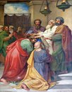 Saul and Barnabas laying on of hands Royalty Free Stock Photo