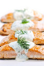 Saumons cuits Image libre de droits
