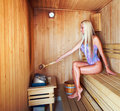 In a sauna Royalty Free Stock Image