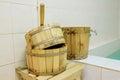 Sauna accessory the image of Stock Photo