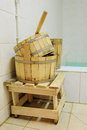 Sauna accessory the image of Royalty Free Stock Images