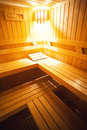 Sauna beds Royalty Free Stock Photography