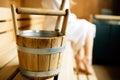 Sauna bucket Royalty Free Stock Photo