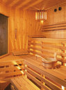 Sauna inside Stock Image