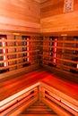 Sauna interior Royalty Free Stock Photo