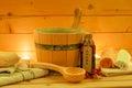 Sauna Set Royalty Free Stock Photo