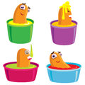 Sausage in bath cor design dirac operator for the out cute and eat Stock Image