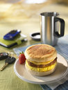 Sausage egg and cheese biscuit Stock Image