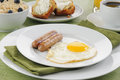 Sausage and eggs Stock Photography