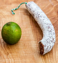 Sausage and Lime Royalty Free Stock Photos