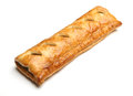Sausage roll large on white background Stock Image