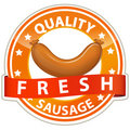 Sausage sign Royalty Free Stock Photography