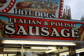 Sausage sign a picture of a Royalty Free Stock Photography