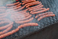 sausages on the barbecue Royalty Free Stock Photo