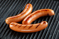 Sausages bbq on grill Royalty Free Stock Photo