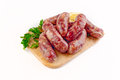 Sausages from mutton, pork & beef Royalty Free Stock Photo