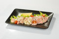 Saute shrimps with stir fry garden vegatables Stock Image