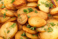 Sauteed potatoes with parsley Stock Image