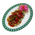 Sauteed vegetarian in sweeten and sour chinese healthy food Stock Photo
