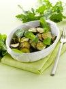 Sauteed zucchinis Royalty Free Stock Photo