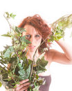 Savage girl in the jungle Stock Image