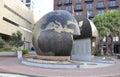 Savannah, August 8th:World WarII Memorial from Savannah in Georgia USA