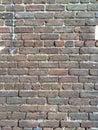 Savannah brick ga wall off of front street Royalty Free Stock Image