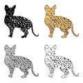 Savannah icon in cartoon style isolated on white background. Cat breeds symbol stock vector illustration.