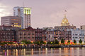 Savannah skyline Royalty Free Stock Images