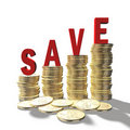 Save coins Royalty Free Stock Image