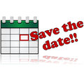 Save the date Stock Photography