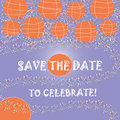 Save the date announcement card this is a vertical abstract illustration for a or invitation with room for copy in heart Stock Photo