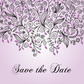 Save the date announcement this is a square abstract illustration for a or invitation Royalty Free Stock Images