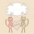 Save the date card with lovers cats this is file of eps format Stock Photography