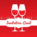 Save the date invitation card vector illustration Stock Photography
