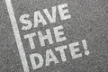 Save the date invitation message information business concept Royalty Free Stock Photo
