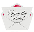 Save the Date Invitation Party Meeting Event Envelope Schedule Royalty Free Stock Photo