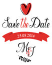 Save the date m j card Stock Photos