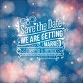 Save the date for personal holiday wedding invitation vector i Stock Photo
