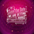 Save the date for personal holiday wedding invitation vector i Stock Photos