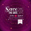 Save the date for personal holiday wedding invitation vector i Royalty Free Stock Photo