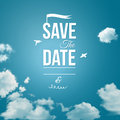 Save the date for personal holiday wedding invitation vector image Royalty Free Stock Photography