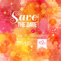 Save the date for personal holiday wedding invitation vector image Stock Photos